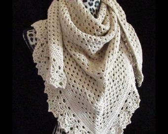 Handmade Crochet Victorian Lace Shawl