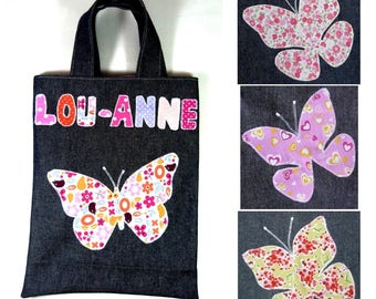Library bag child butterflies design