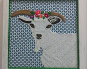 Goat Embroidered Art...