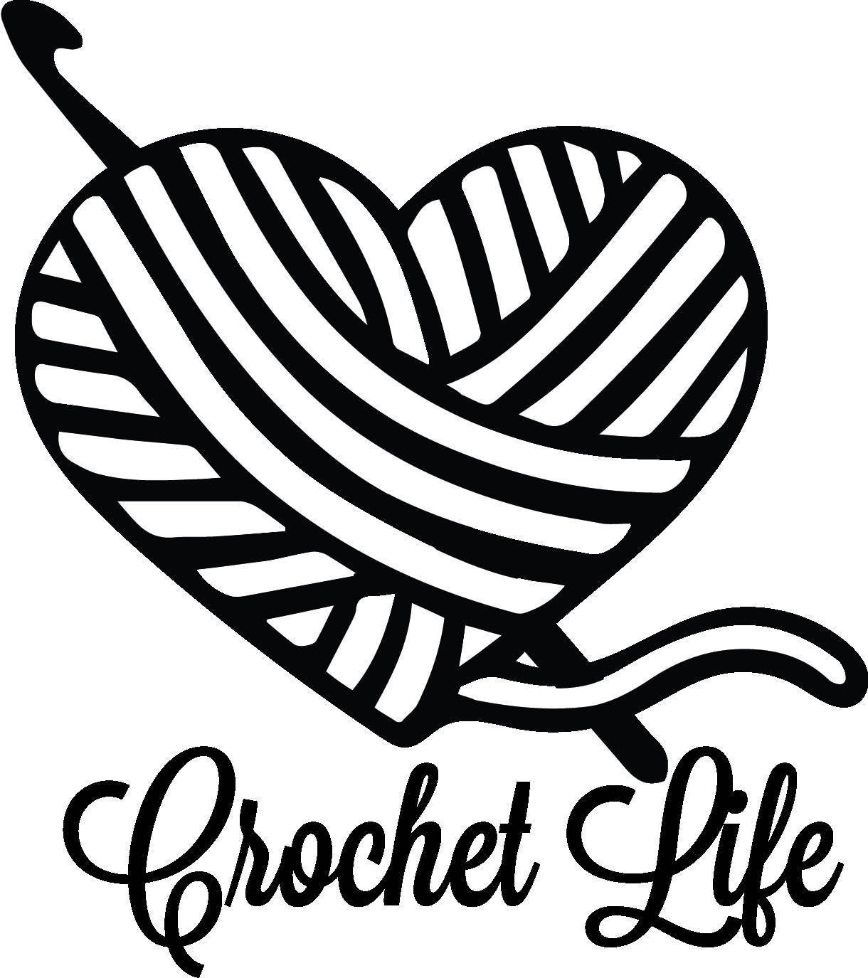 Yarn Clipart Black And White Crochet Life Yarn Hook...