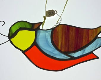 Bird With Crest  Stained Glass