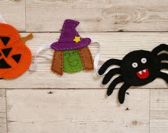 Halloween bunting, Halloween characters bunting