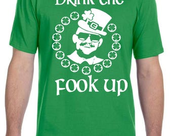 Conor McGregor St. Patrick's Day Drink The Fook Up Shirt