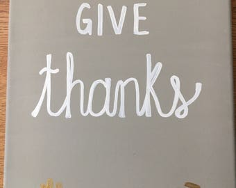 Give Thanks Canvas (Customizable)