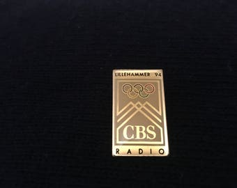 CBS Radio 1994 Lillehammer Olympics Enamel Pin New Sealed Rare Collectible Vintage