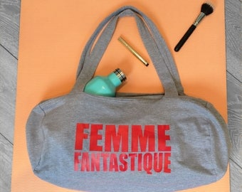 Gym Bag - Femme Fantastique - La Femme -  Women's Sports bag - Slogan Bag - Feminism - Women's Gym Bag -  Women's Fitness Bag - Gym Girl