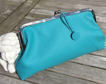 """Yield Lederclutche """"Liss"""" bow bag with leather handles"""