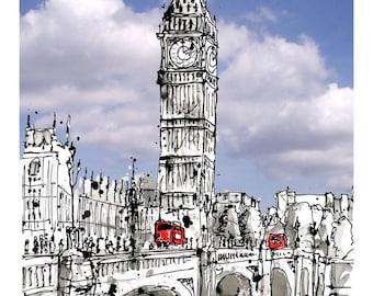 Blue sky over Westminster