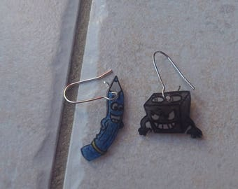 Pencil Sharpener earrings