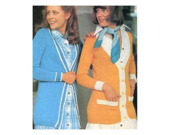 Classic Long Cardigan - Knitting Pattern