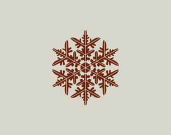 Snowflake stencil. Christmas decoration. Adhesive vinyl stencil. (ref 156)