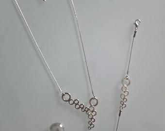 Set prints & chain drops silver