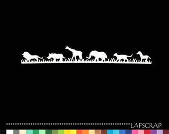 1 cut scrapbooking border animals jungle giraffe lion rhinoceros, elephant baby birth scrapbooking zoo Zebra