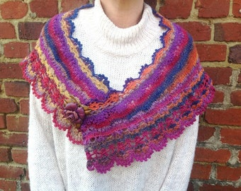 """Shawl covers shoulders knitted hand """"Aod ar vein ruz"""" collection"""
