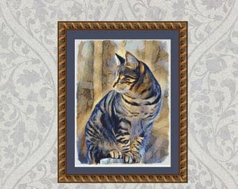 Cross Stitch Pattern Cat