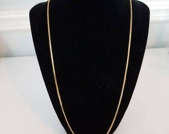 """Givenchy 23"""" Gold Tone Chain Necklace"""