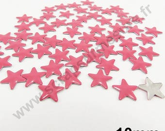 Fusible Star - Pink - 10mm - x 50pcs