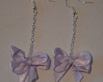 Earrings ' ears dangling bows