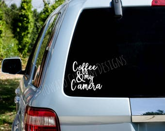 Coffee and My Camera Decal, Photography Decal
