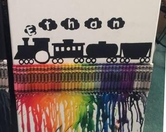 Crayon Canvas Melt