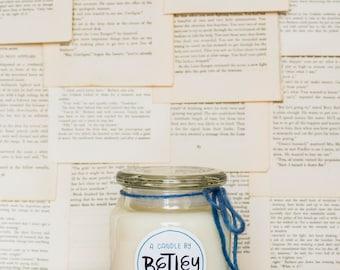Betley   Large Tahitian Vanilla   Natural Soy Candle   Handmade   Social Enterprise