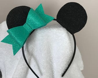Homemade Miss Mouse/Mr Mouse Ear headbands