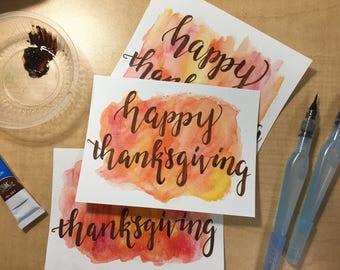 Happy Thanksgiving Miniprint Card