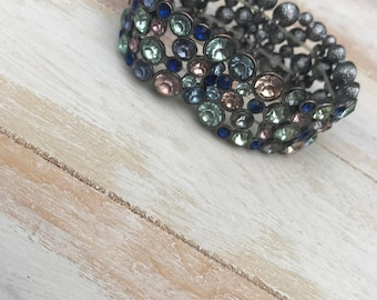Vintage Blue Jewel Bracelet