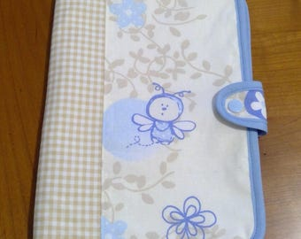 Joint health - bee blue and beige gingham personalized book