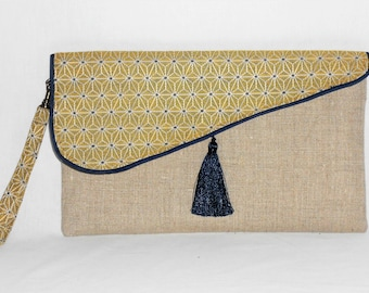 pouch / clutch with strap/evening / wedding/anniversary / linen