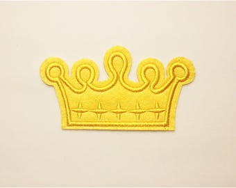 Crown patch - iron on patch, embroidered patch, sew on patch, patch for hat