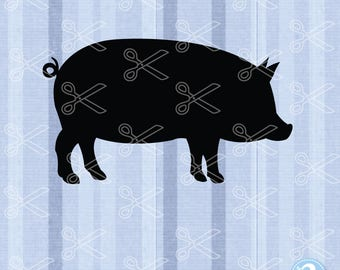 Pig SVG, PNG, DXF, Eps Cutting Files, Farm Svg, Show Pig Clipart, Show Pig Svg, Pig Decal Pig Cut File, Animal Svg, Farm Animals Svg Pig