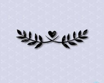 Laurel SVG, PNG, DXF, Eps Cutting files, flourish svg, flourish clipart, wedding svg, Leaf wreath svg, laurel wreath clip art vector