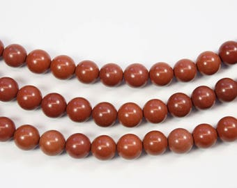 Red Malachite, Round Gemstone, Marble, Round Bead, Brown, DIY, BS293