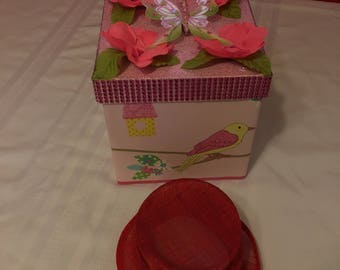 Bird and Butterfly hat box