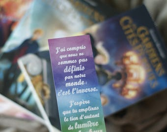 "Bookmark quote Keeper of The Lost Cities - Shannon Messenger - ""I've realized now that our world doesn't define us. We define our world..."""