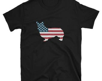 Corgi Shirt USA Corgi Gift T-Shirt