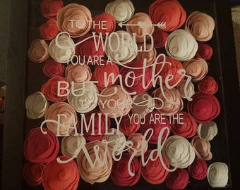 To Your Family You Are the World Shadow Box