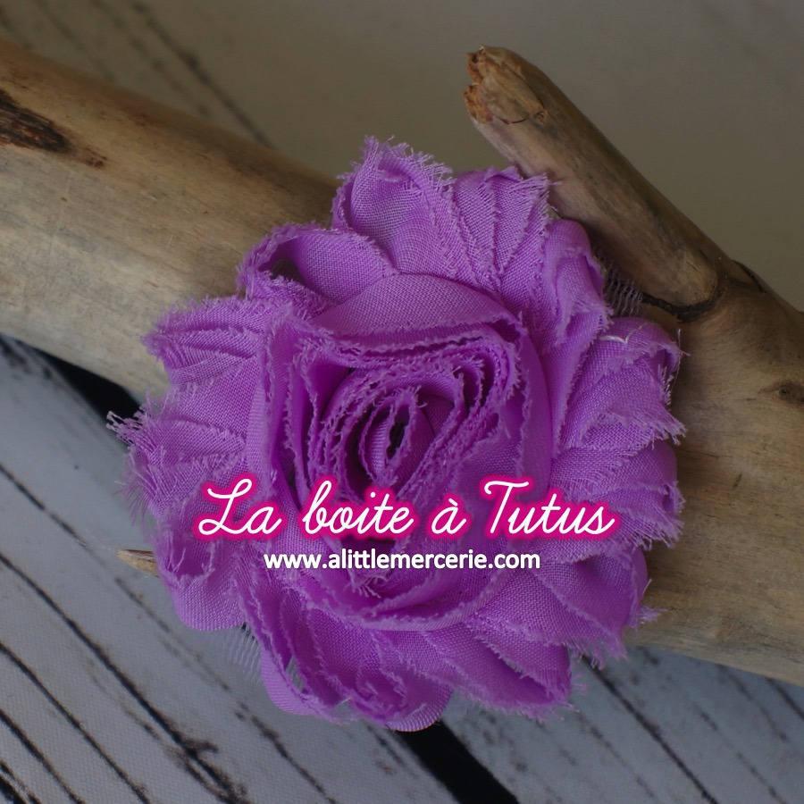 Fleur En Tissu Effiloch Violet Lavande Lila Mauve Applique