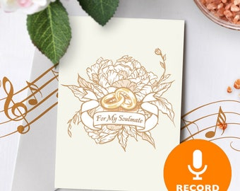 Will You Marry Me Card With Recordable Sound Player | Wedding Proposal Card, Love Musical Greeting Card, Unique Proposal 00078