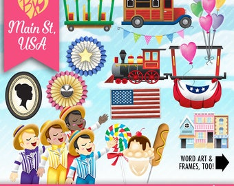 Main Street USA CLIPART ONLY