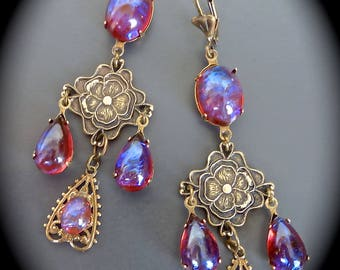 """Earrings"" Retro-vintage: Dragon's breath """