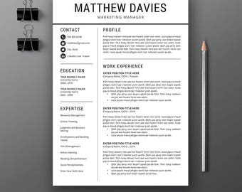 professional resume template cover letter cv resume template ms word creative resume - Creative Resume