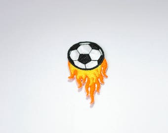 Ball on Fire Iron on Patch, Ball on Fire Sew on , Ball on Fire patch, Men Patch, Ball Patch, Iron on Patch, Sew on Patch, FREE SHIPPING