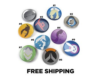 Overwatch Inspired Pin Pinback Button Badge