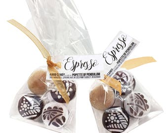 6 - Espresso Hard Candy Drops (Bags of Four Pieces)