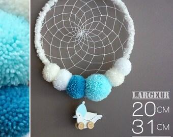 Dream catcher tassels and bird pendant