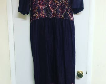 Gorgeous vintage 70's batik dress