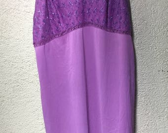 Lilac vintage slip size 38