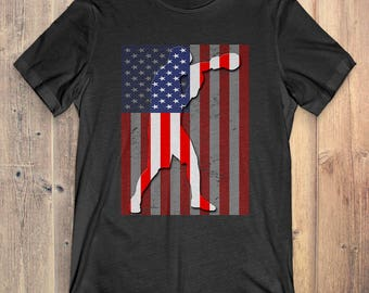 Boxing T-Shirt Gift: American Flag